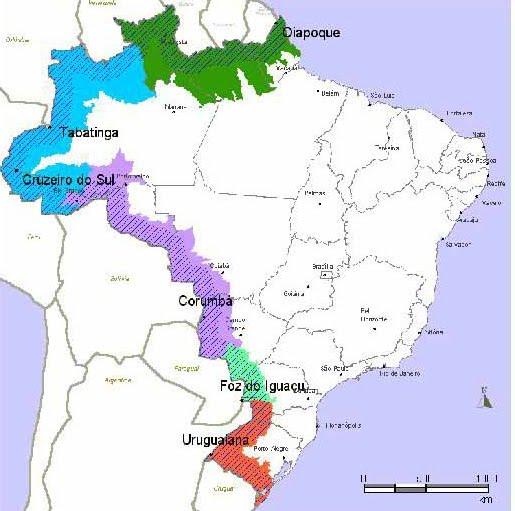 mapa fronteira mapa fronteira | TELECENTRO / GM FOZ mapa fronteira